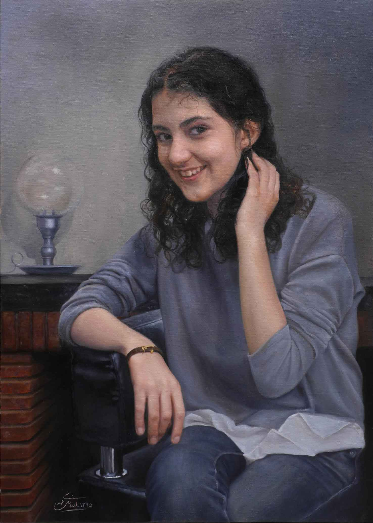 Anoosha, Oil on Canvas, 50x70, 2016
