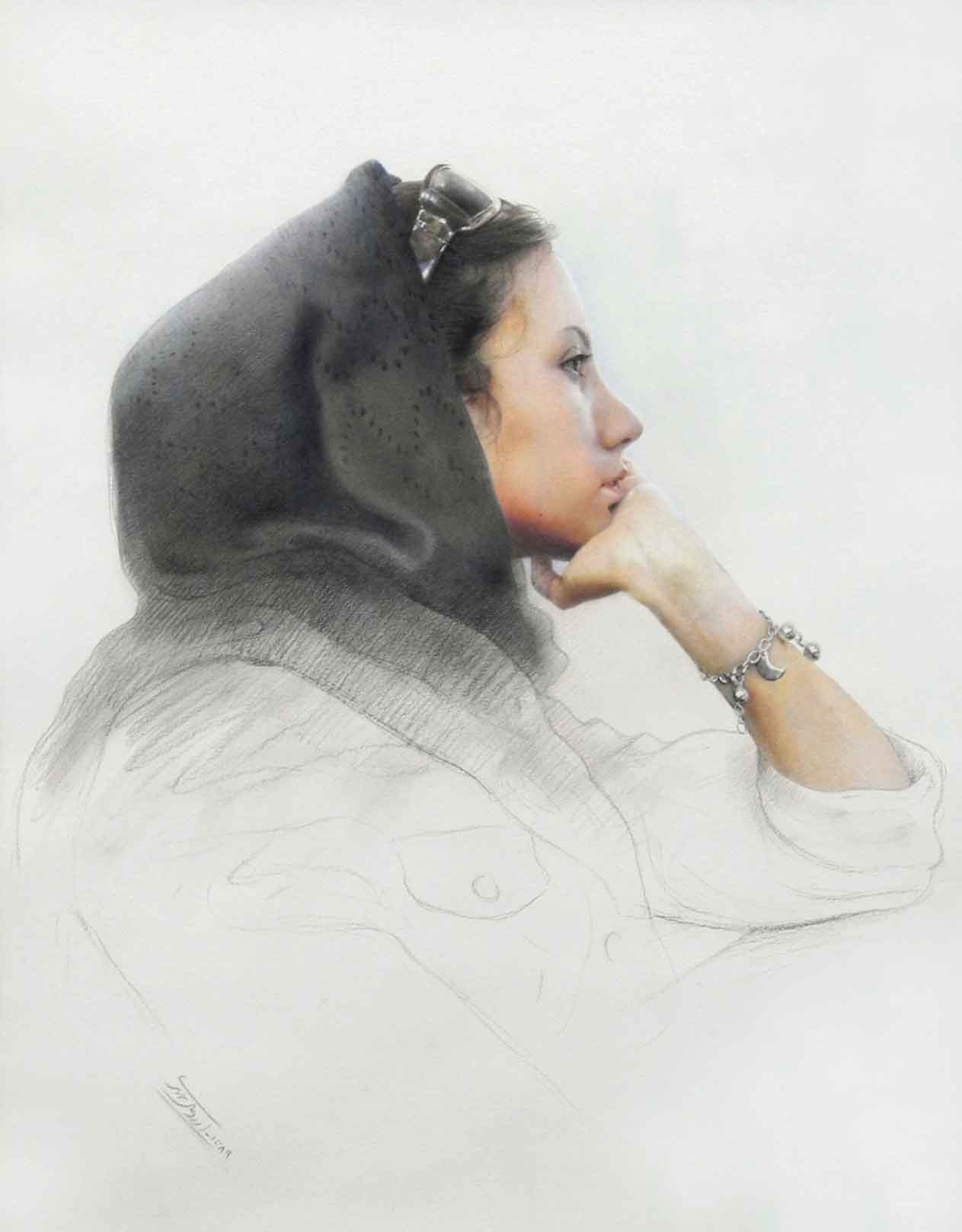 Expectation, Colourpencil on Paper, 55x 65, 2010