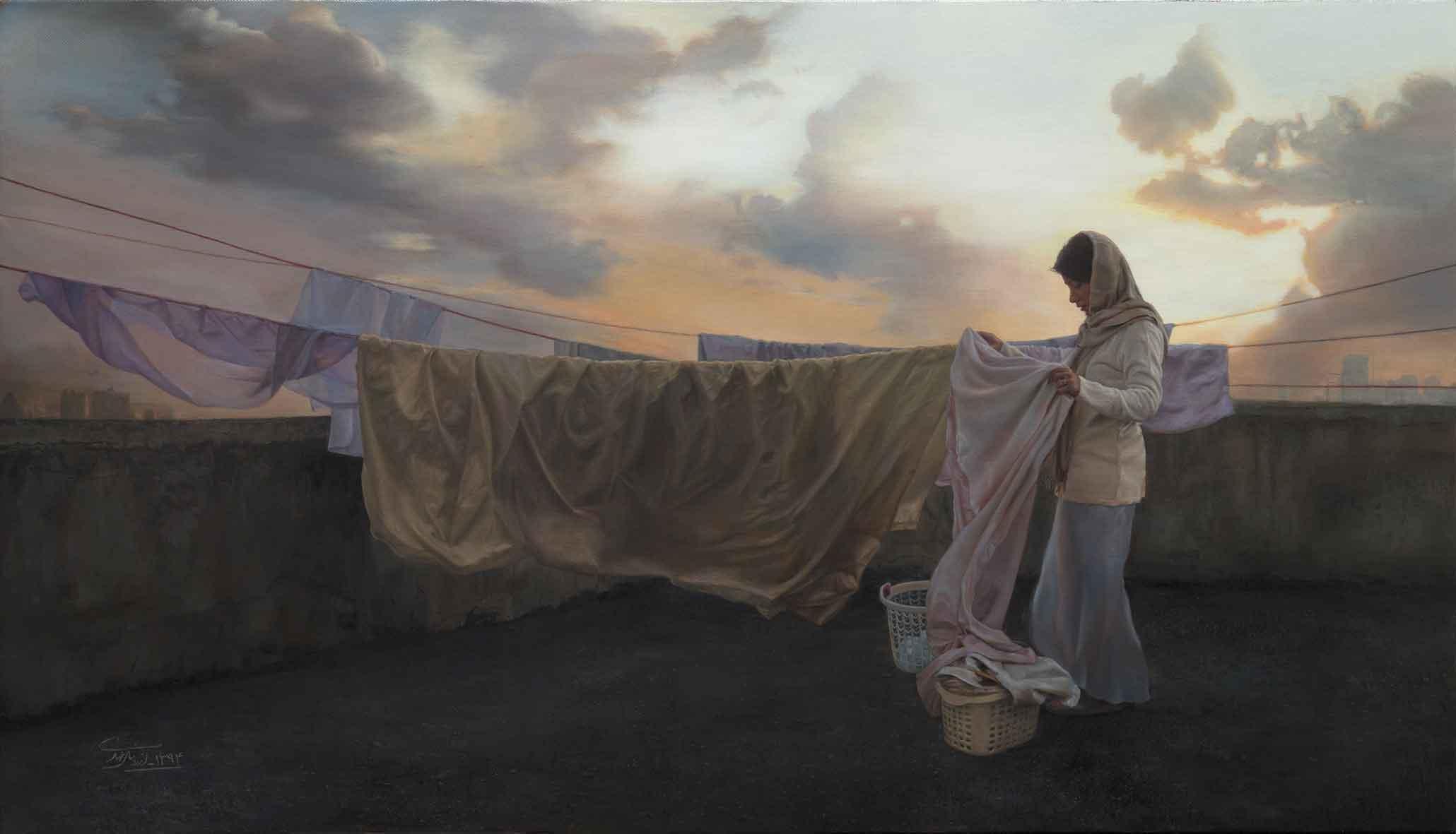 Turbulence, Oil on Canvas, 60x106, 2015
